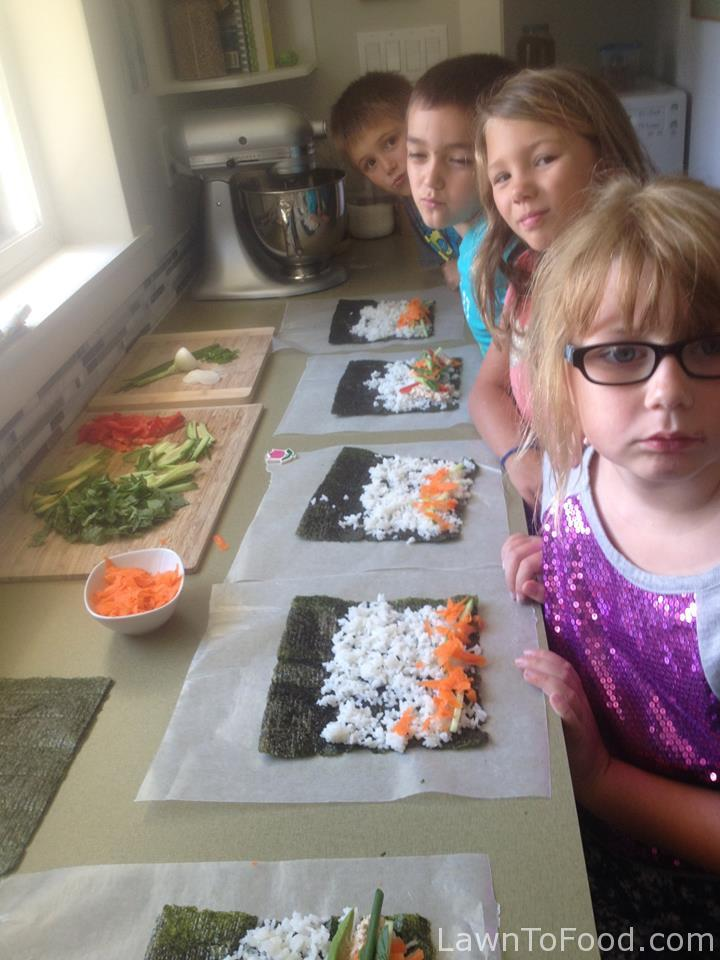 kids sushi party